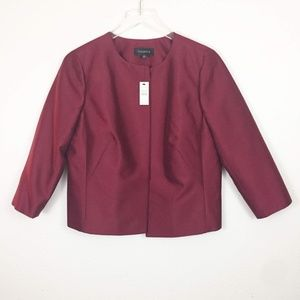 Talbots Holiday Sheen Red Jacket Size 8 One Button